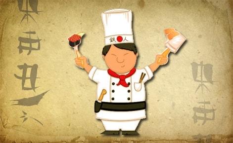Логотип для службы доставки суши