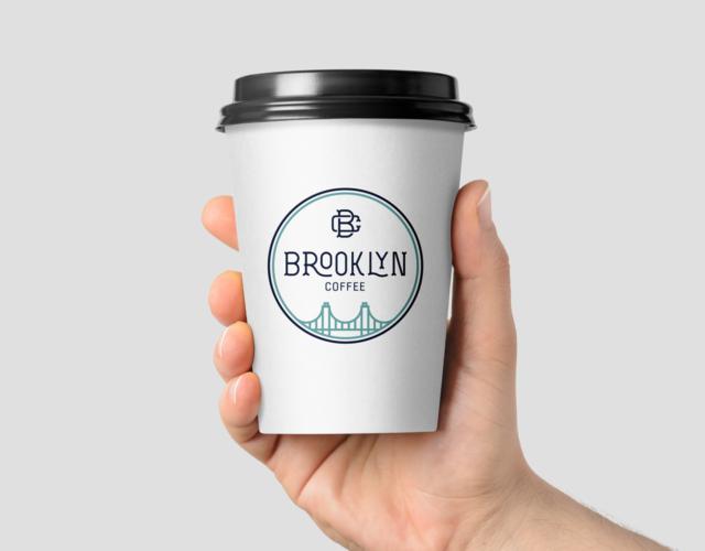 Логотип для кофейни Brooklin